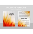 Brochure with flame vector image vector image