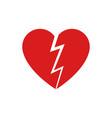 broken heart icon isolated vector image vector image