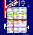 calendar 2019 with flag of australia vector image