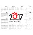 calendar2017 vector image