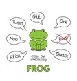 cartoon frog kids learning game vector image