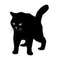 cat black silhouette on white vector image vector image