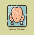 chicken meat icons vector image