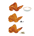chicken wing vector image