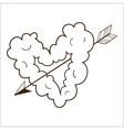 Cloud heart with arrow vector image vector image