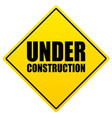 construction under construction sign vector image