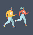 couple running or jogging for fitness vector image vector image