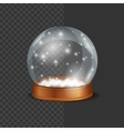 Crystall Ball Snow vector image