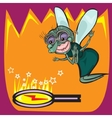 Cute little cartoon fly insect vector image vector image