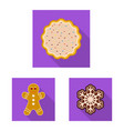 design of biscuit and bake symbol vector image