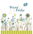 Easter flowers greeting card vector image vector image