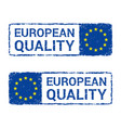 european union quality eu letter stamp vector image