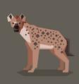 flat geometric hyena vector image