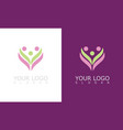 flower beauty care logo vector image vector image