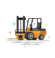 forklift truck fork loader vector image vector image