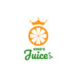 fruit juice logo fresh drink logo vector image vector image