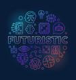 futuristic round colorful in vector image