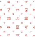 garden icons pattern seamless white background vector image vector image