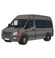 Gray delivery car vector image vector image