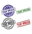 grunge textured top price stamp seals vector image