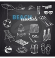 Hand drawn Beach essentials vector image vector image