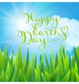 Happy earth day vector image vector image