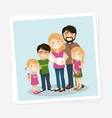 happy family photo with parents three children vector image