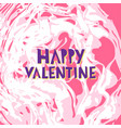 happy valentine hand lettering vector image vector image