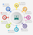 infographic template with seo icons vector image