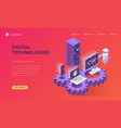 landing page for digital technologies vector image