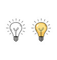 light bulb sketch electric energy concept vector image vector image