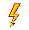 lightning symbol sign iconon white stock vector image