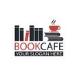 literary cafe emblem vector image
