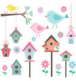Little BirdBird HousesBirds and FlowersBranches vector image vector image