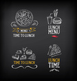 Lunch menu logo and badge design vector image