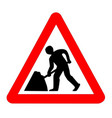 men at work traffic sign isolated vector image vector image