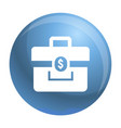 money case icon simple style vector image