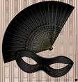 old mask and fan vector image vector image