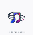 people music template vector image vector image