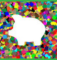 pig money bank sign white icon on vector image