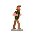 red head man walking vector image