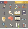 Retro Flat Science Icons and Symbols Set vector image vector image