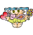 Romantic woman RGB vector image