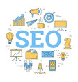 round linear concept of seo vector image