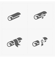 Scrolls icons with ribbon on white vector image