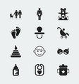 set of 12 editable baby icons includes symbols vector image vector image