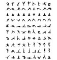 silhouettes of yoga and fitness vector image vector image