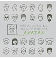 Sketchnote Avatars vector image vector image