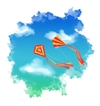Sky Kite Watercolor vector image vector image
