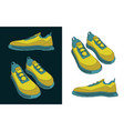 sneakers color drawings vector image vector image